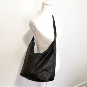 Lauren Ralph Lauren black leather hobo slouchy bag